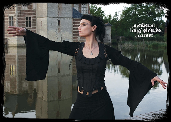 corset medieval long sleeves